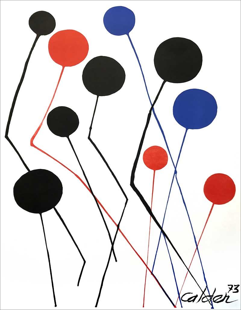 Calder litografi