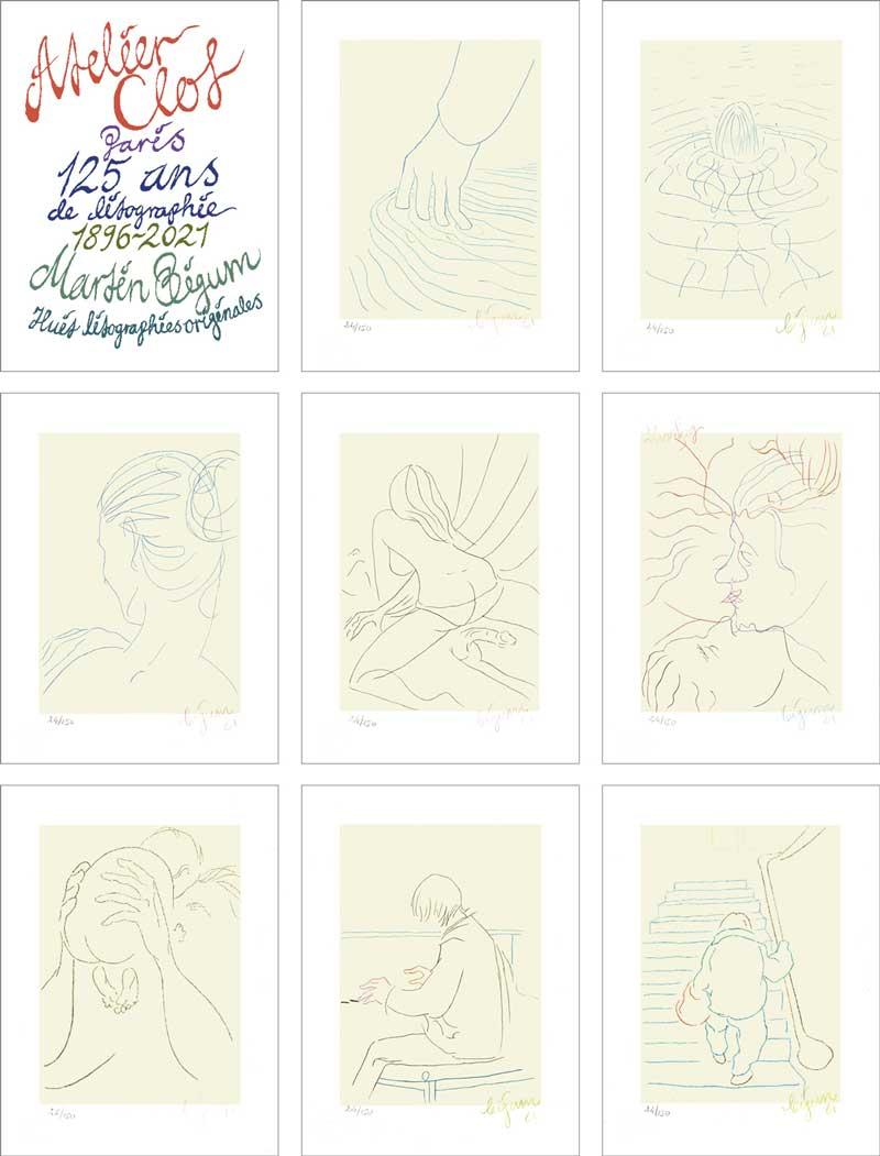 Jubilæumsserie af Martin Bigum - 8 litografier