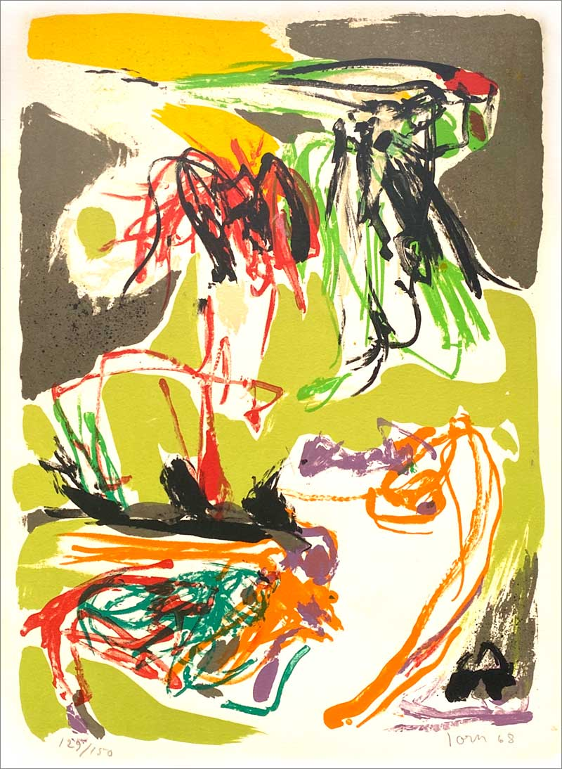 Asger Jorn litografi